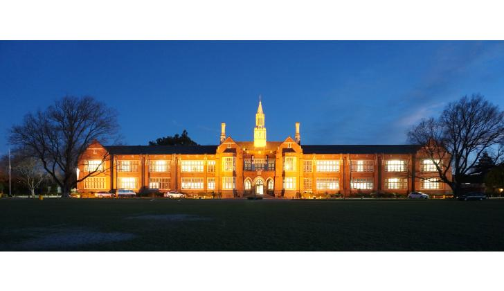 Night photo of CBHS